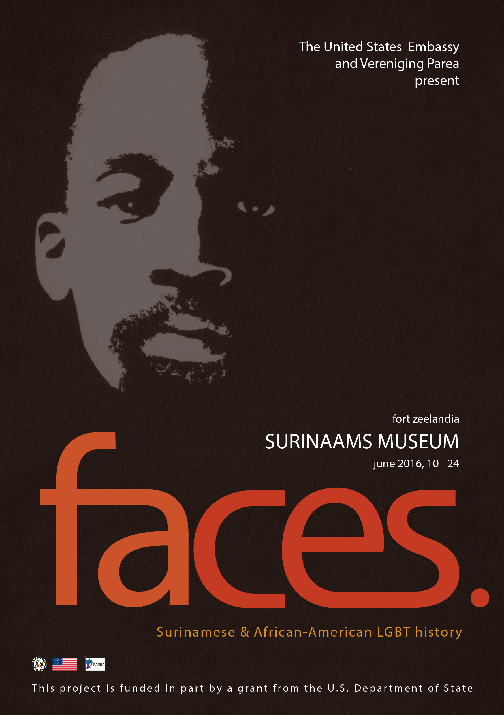 flyer exposition 'faces.', 2016