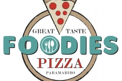 pizza logo 'FOODIES', 2016