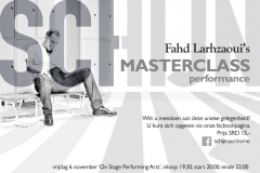 flyer workshop/masterclass voor theaterproductie SCHIJN