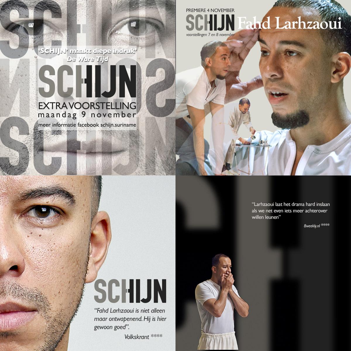 """4 boost images voor theaterproductie 'SCHIJN"""""""