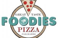 pizza logo 'FOODIES', 2016