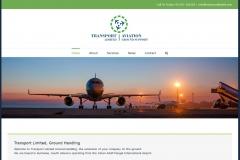 Re-branding Transport Limited, web design, 2016
